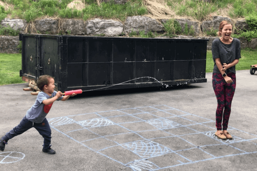 Super Silly Screen Free Coding Activity with Chalk