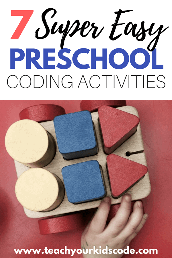 Do you want to teach your preschooler to code? Coding for preschoolers has so many benefits beyond the computer! Here we review 7 simple activities that you can do RIGHT NOW at home to get your preschoolers coding. These preschool coding activities are entirely screen free and unplugged! Get your preschooler coding with these awesome suggestion! #kidsactivities #STEM #coding #preshool #preschoolactivities