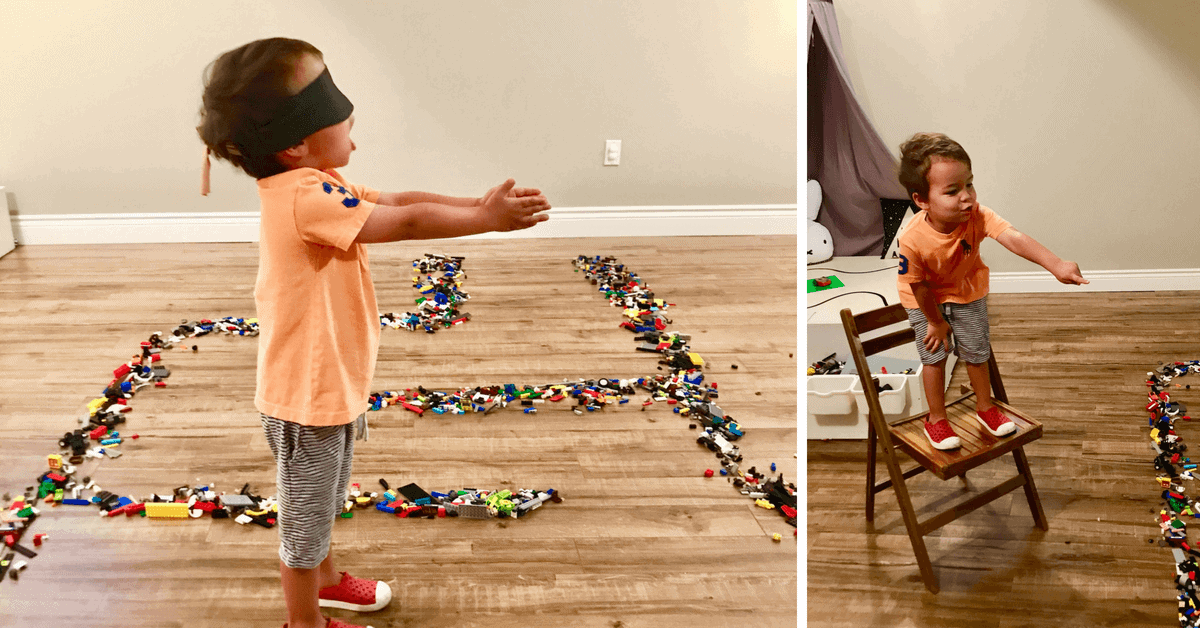 Don't Step on the Lego! Blindfolded Coding Game for Kids