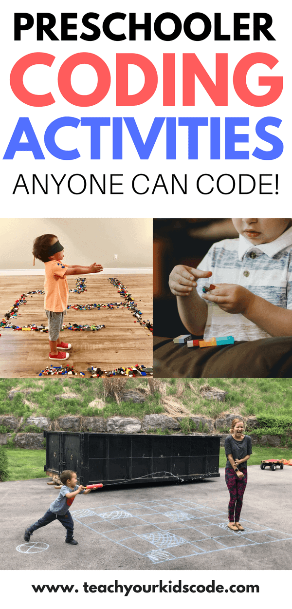 There are so many benefits to coding for preschoolers. Here we list some coding activities for kids that are completely screen free! These coding unplugged activities are perfect for preschoolers. You don't need any coding skills to get preschoolers thinking like a programmer! Love these coding for kids ideas! #kidsactivities #STEM #coding #preshool #preschoolactivities