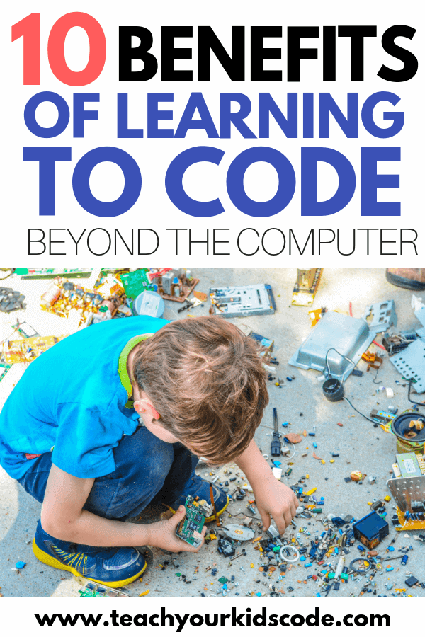 Check out the 10 benefits of learning to code that stretch far beyond the computer! Learning to code is becoming an essential skill for kids as they look forward to a workforce that is more and more driven by technology. Coding is not just about computers though! Teaching kids to code will give them essential skills in problem solving, critical thinking and being creative. Coding is fun to learn and provide invaluable skills so get your kids involved in coding while you can! #coding #STEM