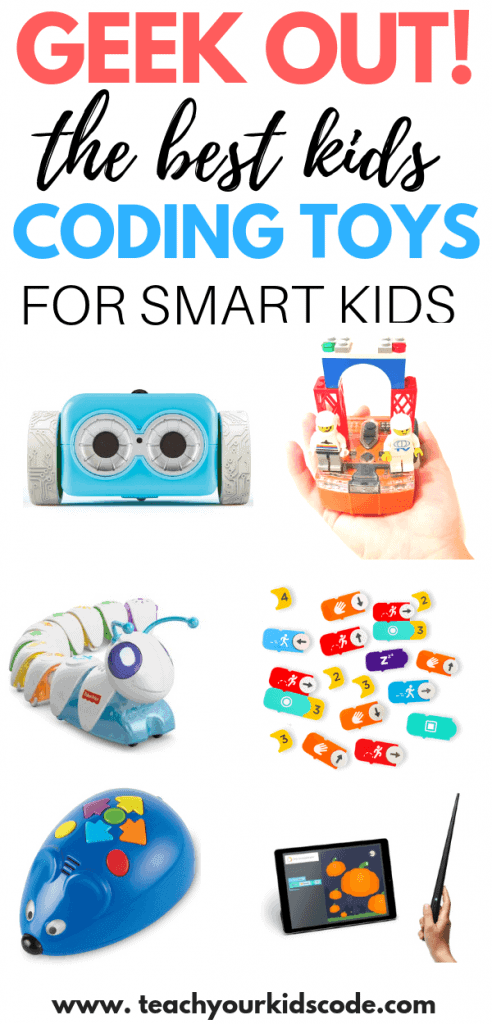 Geek out with your kids! These awesome kids coding toys are the perfect kids christmas gifts toys. If your kids love tech gadgets, check out these awesome STEM toys for kids. We have curated the top cool toys for kids who love to learn! Our list includes gifts for teaching kids to code and also a list of STEM toys. #stemtoys #kidsgifts #learningtoys #educationaltoys #codingtoys #coding
