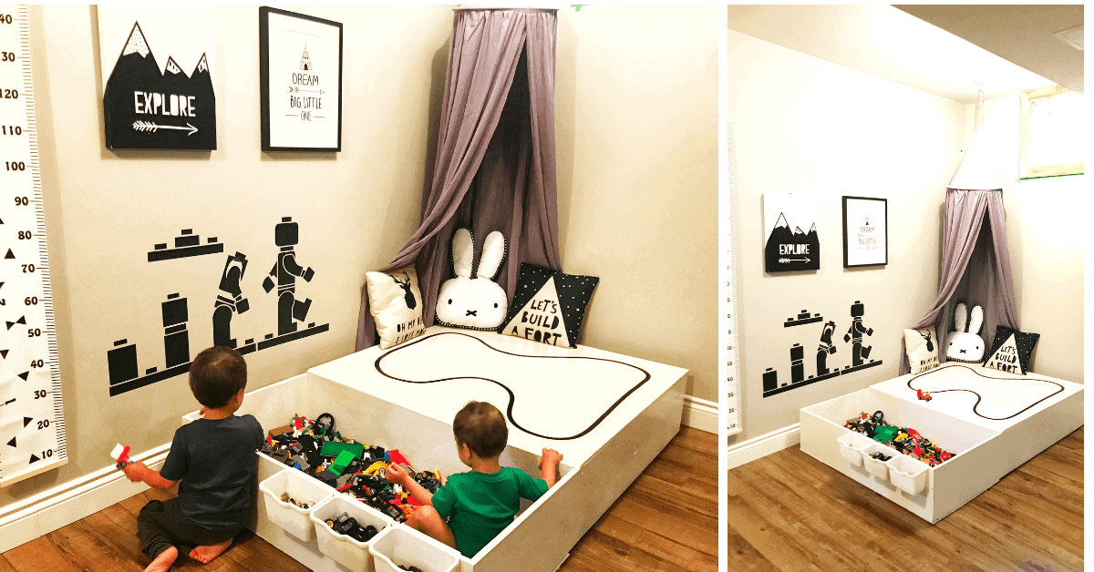 DIY LEGO Table with HUGE Storage