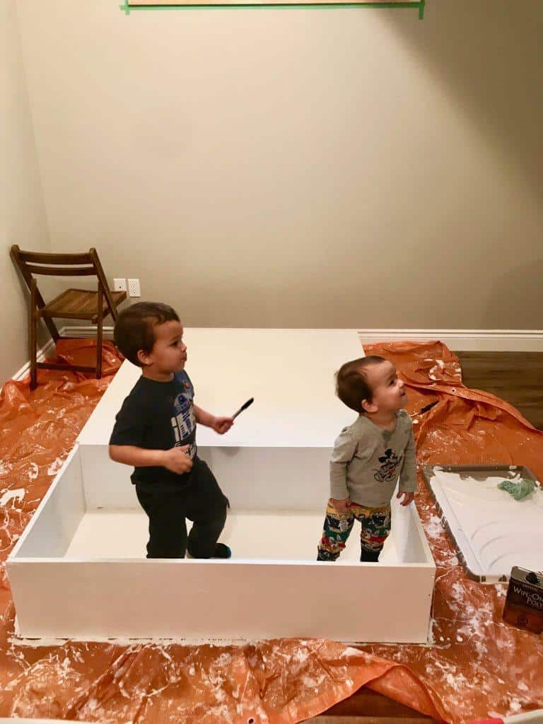LEGO Table DIY - Painting