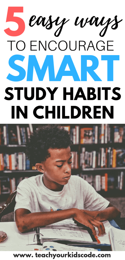 Do your kids have good habits for studying? We have 5 tips to help your children develop effective study habits. When kids learn how to study effectively, they are setting themselves up for a lifetime of success. Set your student up for success with these smart study habits for children. #studyhabits #education #study #highschool