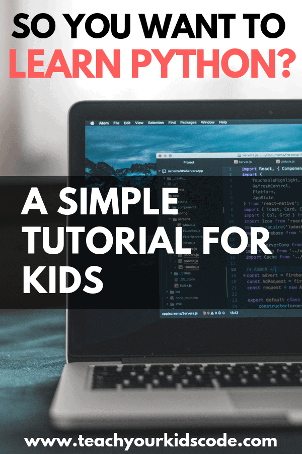 Do you want to learn python? Python is a computer programming language that is easy for beginners to learn. This tutorial is aimed at teaching kids the basics of python. Learn to code with this simple beginner coding tutorial. You will have your kids coding in no time! #coding #learncode #python #learnpython #computerscience #education #teched