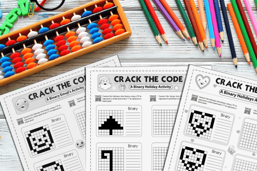 Binary Coding Worksheet Featured Image