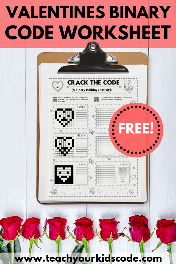 Learn about binary numbers with this awesome free worksheet. This kids learning activity is a perfect computer science lesson. Grab your free printable coding worksheet and have fun completing this fun activity with the entire class. Included in this post is a lesson on binary numbers to review with your class. Have fun coding! #printable #freebie
