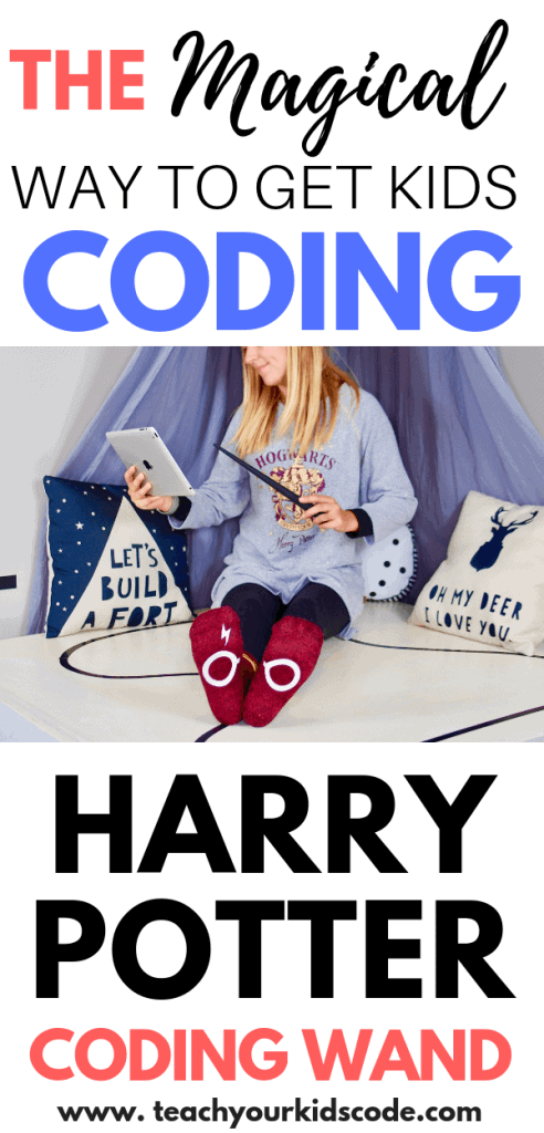 Teach your kids to code with the harry potter coding wand! This kano coding wand is the perfect way to make coding magical. Kids will learn real life coding concepts like logic, algorithms and loops in a fun and engaging way. This Kano coding kit allows kids to be creative and learn basic programming skills at the same time. This is a perfect STEM gift for any aspiring coder. Save this to your coding for kids board! #coding #codingtoys