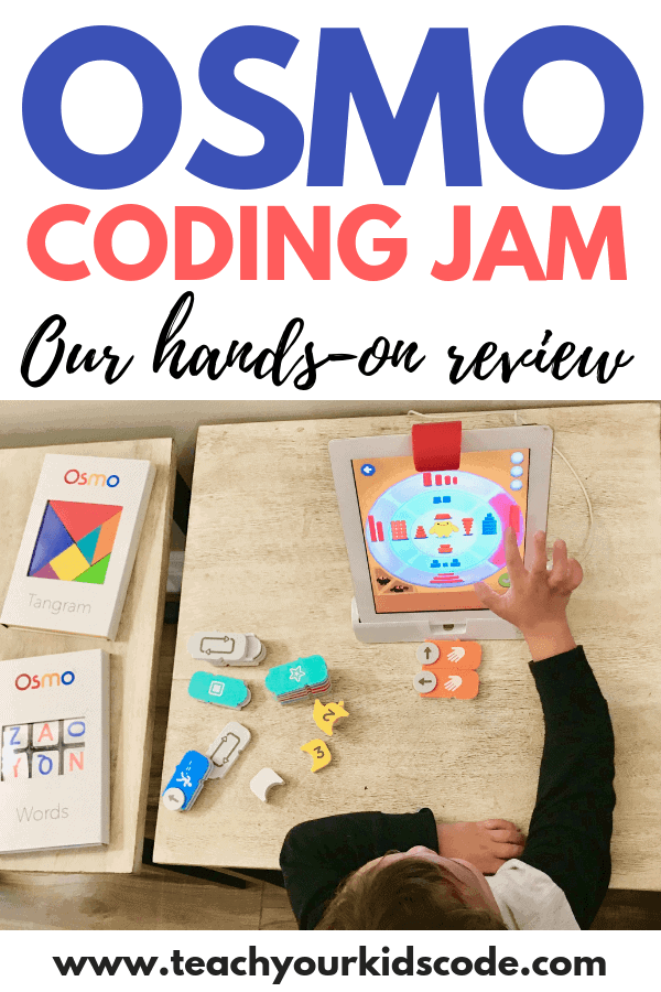 Check out OSMO coding jam! This awesome coding toy is perfect to teach kids the basic skills of coding. Learn to code in a fun and interactive way with this cool add on set to the OSMO iPad accessory. My son loved this coding toy and I loved that this toy caused him to interact with his iPad with hands-on learning. This is an awesome STEM toy for the technology classroom or homeschool. #STEM #Stemgifts #tech #teched #codingtoy