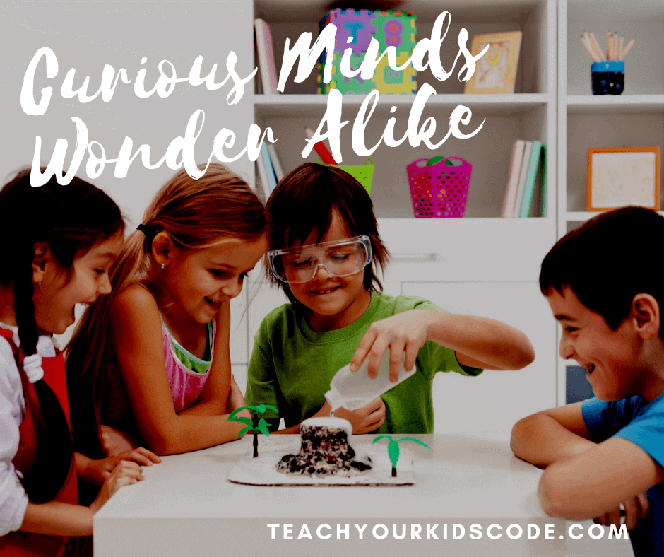 Curious Minds Wonder Alike Educational Quotes