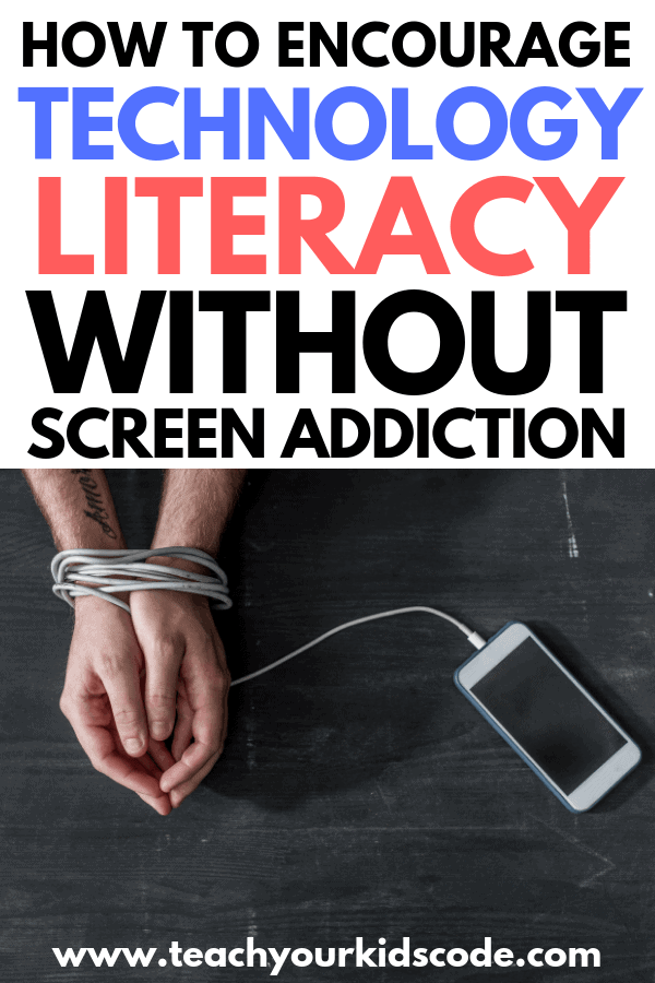 Teach kids the importance of digital literacy and computer literacy! You can strike a balance between the educational benefits of screen use and avoiding screen addiction with these screen time tips. Technology is important in education and many careers require computer literacy for success. Teach your kids how to enjoy technology and learn from it as well. #education #technology #screentime