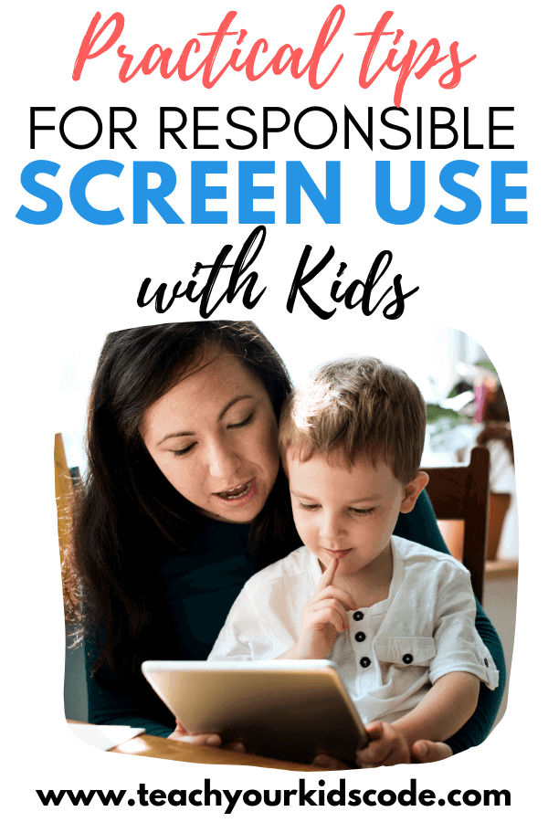 Screens are everywhere and are harder and harder to avoid. Learn practical tips for responsible screen use with kids. These screen time tips strike a balance between the importance of technology literacy with the importance of going 'unplugged'. The best screen time tips and ideas are found here. #technology #screentime #parenting