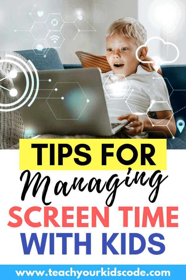 Screen time doesn't have to be a battle! Learn our favourite tips to make screen time manageable and educational. Screen time can be valuable, it is important for kids to learn digital literacy. We share the best screen time tips that parents can use to engage their kids in meaningful time on their screens. #parentingtips #parenting #technology #screentime