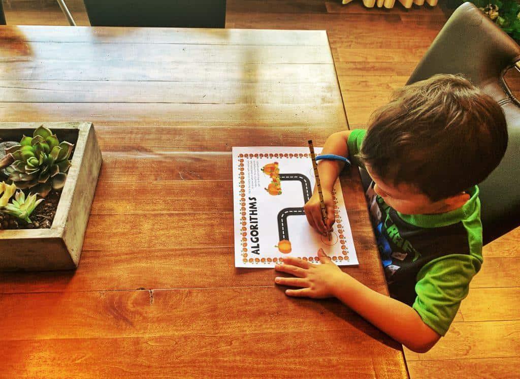 Algorithms Activity | Coding worksheet| Kindergarten worksheet and printable