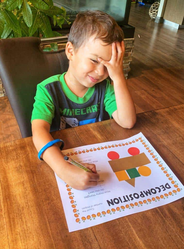 Decomposition | Coding worksheet for kids | Coding printable