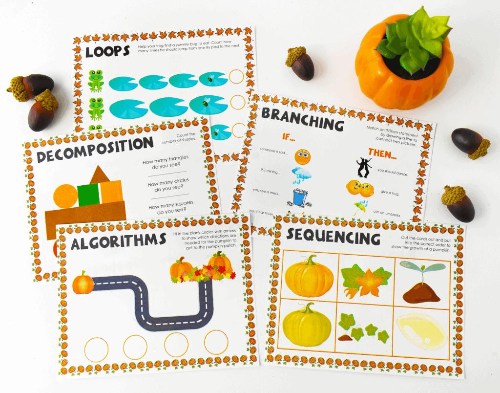 Kindergarten Coding Printable Activity