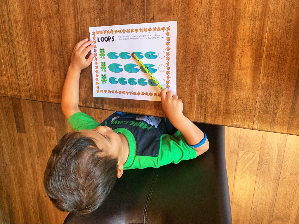 Loops | Kindergarten Worksheet | Coding printable for kids | Coding for kids