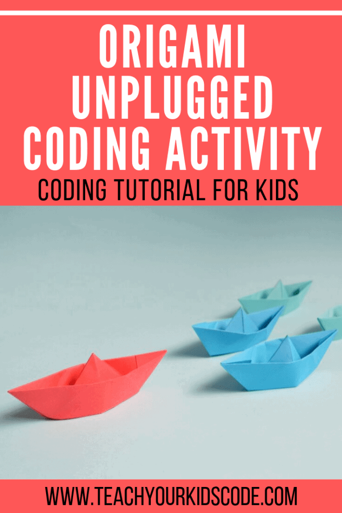 Origami is a great introduction to the basic concepts of coding. In this unplugged coding tutorial we will review basic coding concepts like sequences, decomposition, algorithms and debugging to help your students understand coding fundamentals. Origami is a fun activity that can easily incorporate computational thinking skills in the classroom or at home. #coding #codingunplugged
