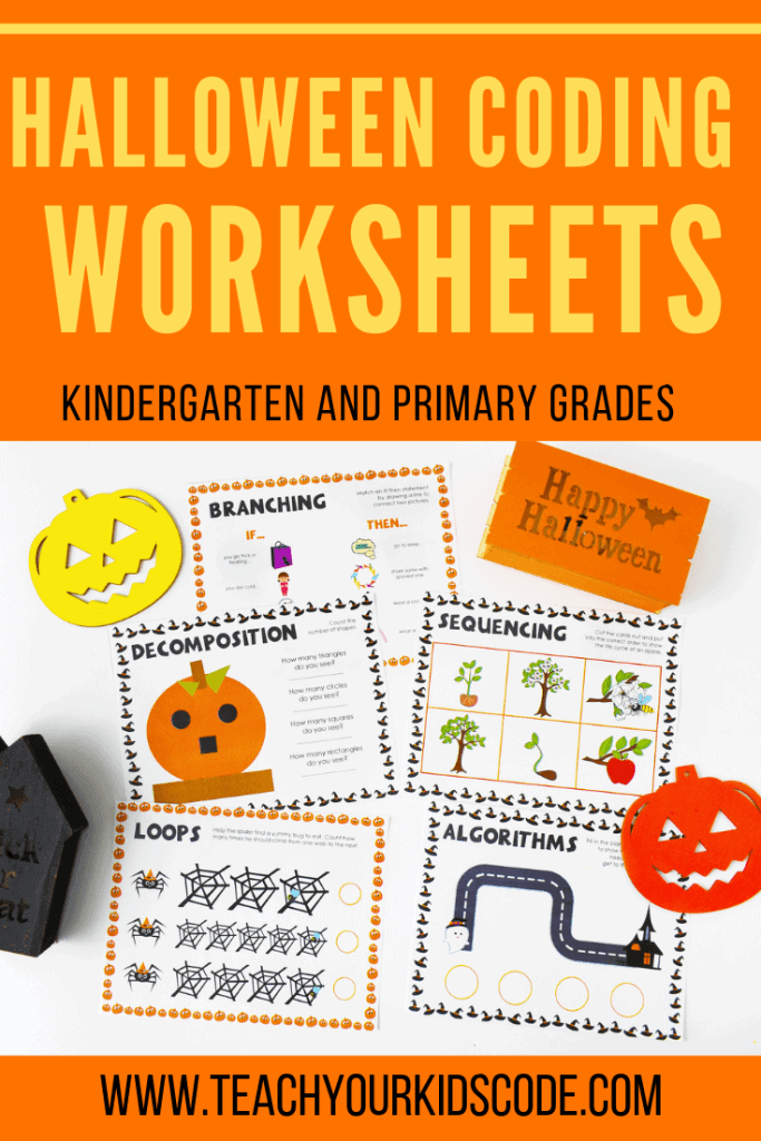 Do you want to teach your kids to code? These kindergarten worksheets are perfect for teaching young kids to code. These are the 5 basic coding concepts that 5 year olds can understand. Our themed worksheets teach the coding concepts of algorithms, loops, sequencing, decomposition and branching. Coding for kids is easy with this beginners guide to coding unplugged! #coding #codingunplugged