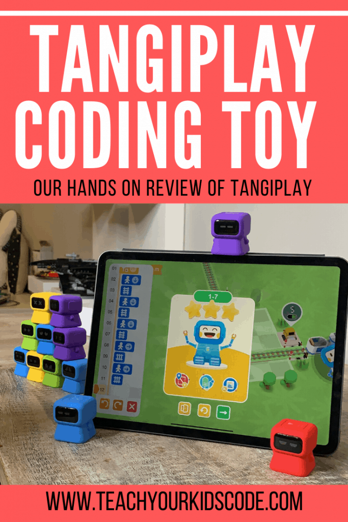 This fun coding toy teaches the basic concepts of coding. Using the tangiplay coding toy pieces, your little coder will engage with their iPad to create algorithms that help solve puzzles in the Tangiplay app. This coding toy finds a unique way to get kids engaging with their screen to foster critical thinking and problem solving skills. Read our full review of this STEM toy here. #STEM #eduction #stemeducation #coding