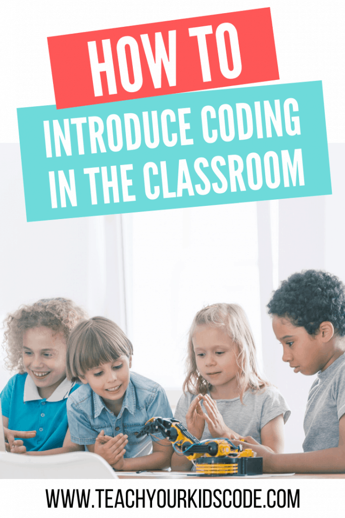 Our ultimate guide to introducing coding in the classroom! These simple ideas will help you incorporate the basics of coding into your classroom. We will help you to easily incorporate coding for kids into your curriculum. #education #coding #edtech